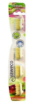 Yaweco Natural Medium Toothbrush Replacement Heads (4 Heads a pack)