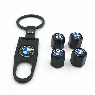 4pcs Black Styling Car Logo Wheel Tire Tyre Valve Air Caps Metal Cover For BMW