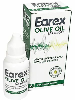 Earex Olive Oil Ear Drops 10ml - Gently Softens and Removes Earwax