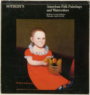 Book: Antique American Folk Paintings & Watercolors at Sotheby's 1981 Catalog