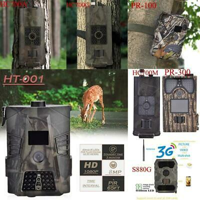Hunting Camera 12MP/16MP 1080P Night Vision Trail Scouting Wildlife GPRS MMS SMS