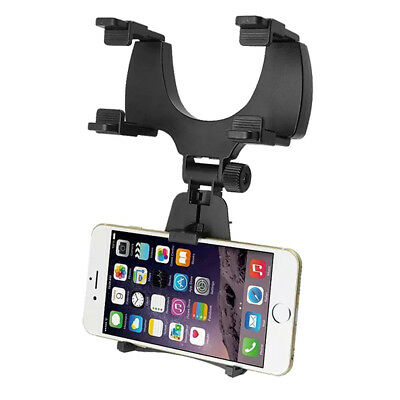 Car Rearview Mirror Mount Stand Holder Cradle For Cell Phone GPS Universal