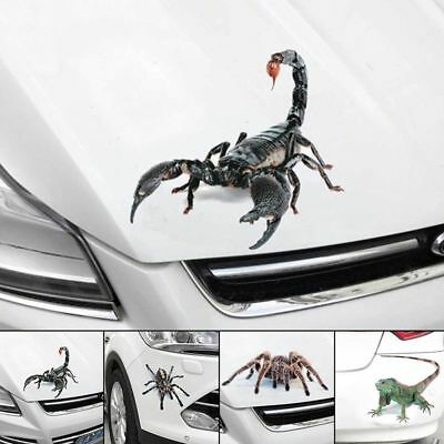 3D Spider Crawling Car Sticker for Vehicle Truck Window Sticker Hood Decal Gift