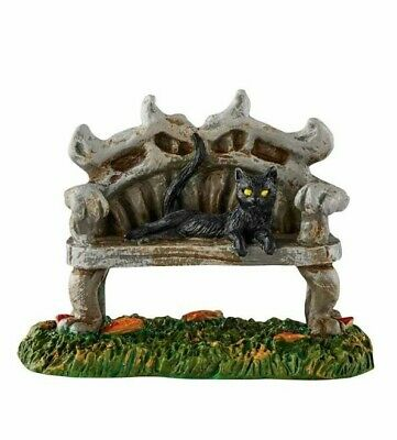Dept 56 SV Halloween Black Cat Bench BRAND NEW Free Shipping