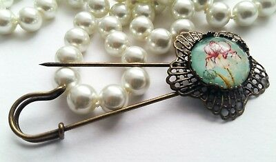 🌹ONE OF A KIND Art Deco Style Large Kilt Pin Brooch🌹