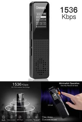 Ommani Voice Activated Recorder Device Listening Spy Audio Digital Bug 8gb