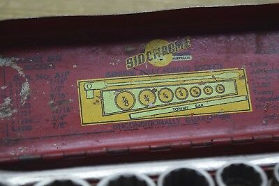 Sidchrome Very Early SS601 AF Set With Tommy Bar Socet Set  Old Tools