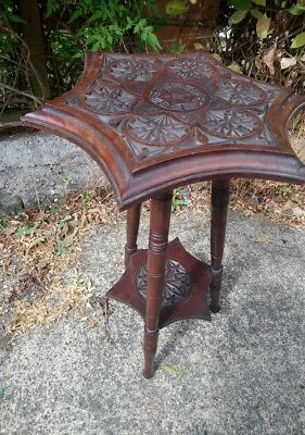 Lovely Arts And Crafts Style Antique Plant Stand/table