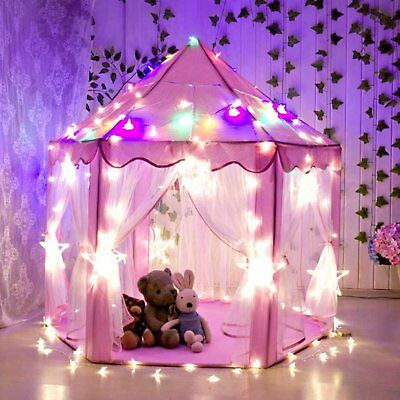 Princess Castle Play House,Large Indoor/Outdoor Kids Play Tent for Girls Pink FB