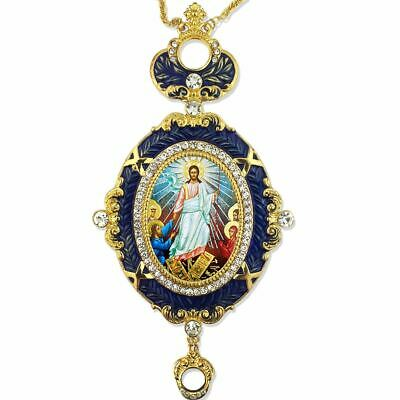Resurrection Of Christ Icon Pendant  With Crown 5 3/4 Inch