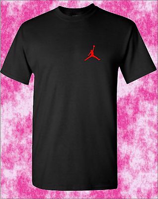 JORDAN BASKETBALL T-Shirt LOGO LEFT BREAST CHEST  Michael Jordan NBA Unoffical .