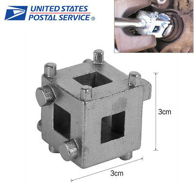 "1x Auto Car Rear Disc Brake Piston Retractor Wind Back Cube Tool 3//8/"" Durable #C"