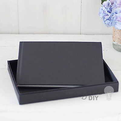 Boxed Guest Book In Black - Wedding Planning Crafting