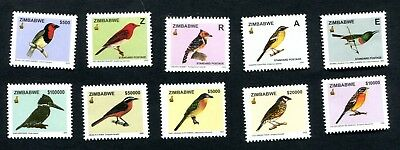 2005 ZIMBABWE BIRDS MNH set of 10 SG1146 - 1155