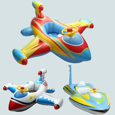 Inflatable Airplane Baby Kids Toddler Infant Swimming Pool Ring Float Boat Seat