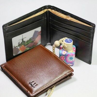 New Mens Money Clip PU Leather Wallet Ultra Slim Credit Card Holder Pocket Purse