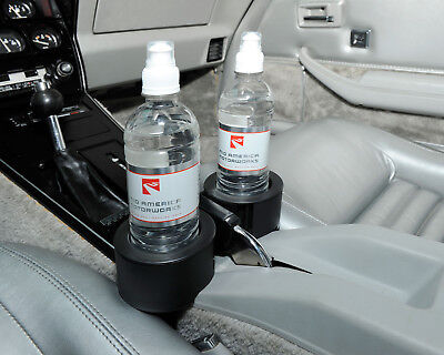 New Dual 2 Cup Holder Drink Tray Fits Mugs - Black (1963-1982 C2 C3 Corvette)