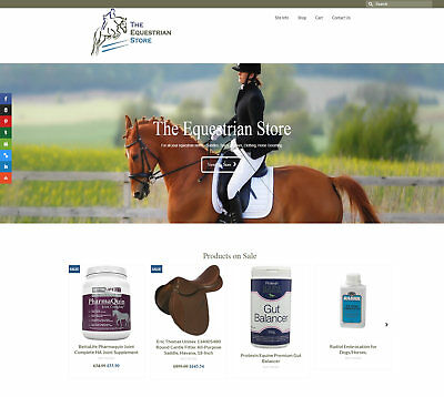 Fully automated EQUESTRIAN Business - Upto £288 per sale FREE DOMAIN / HOSTING