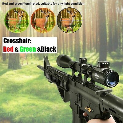 3-9X40 Red Green Rangefinder Illuminated Optical Sniper Rifle Telescopic Scope