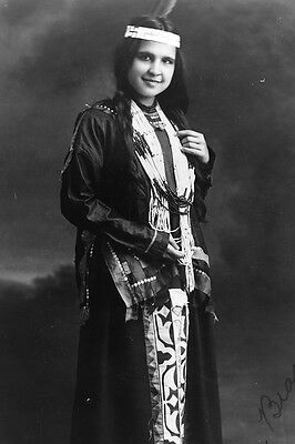 New 5x7 Native American Photo: Moon Beam, North American Indian Woman - 1909