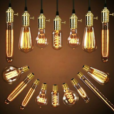 Vintage Industrial Retro Edison Filament Bulb Light Lamp 60W E27 110V Home Decor