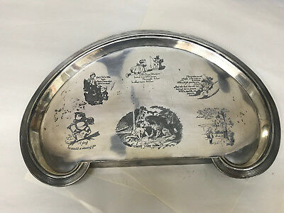 Reed & Barton Baby Highchair Tray Silver Plate