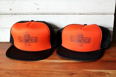 Vintage Case Tractor Snap Back Hat Cap , Pair of 2