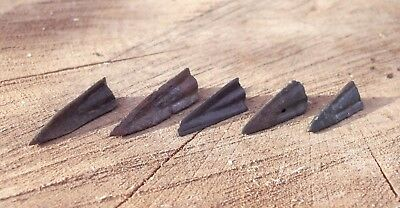 "5 Old Original Ancient Scythian-Sarmatia Barbed Arrowhea 7-4 BC ""Super offer"" #3"