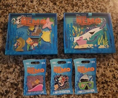 Disney Finding Nemo Mini Event 5 Pin Set  LE  15th Anniversary