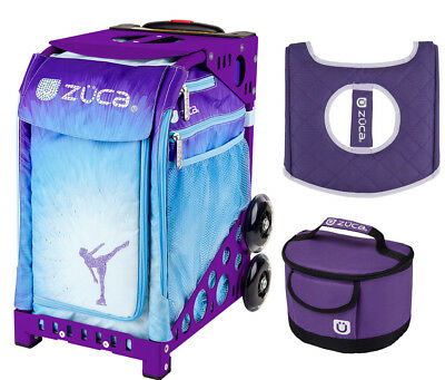 Zuca Sport Bag - Ice Dreamz with Gift Lunchbox and Seat Cover (Purple Frame)