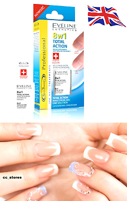 Eveline 8 in 1 Total Action Intensive Nail Conditioner Strengthener Nail Therapy