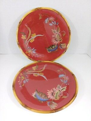 TRACY PORTER SET of 2 Plates the Thalia Collection Hand Painted ...