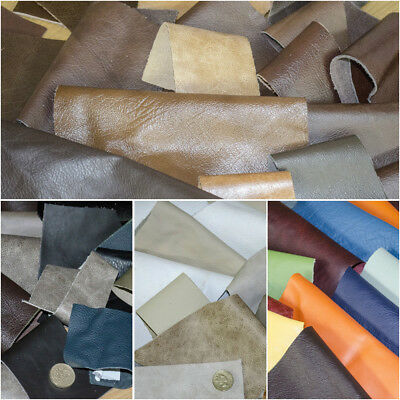 Italian REAL Leather COWHIDE OFFCUTS bronze white black 90g 0.8/1.1 MM THICK