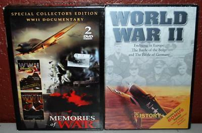 Lot Of 2 Dvd's  World War Ii Engame In Europe ~New~  & Memories Of War ~170