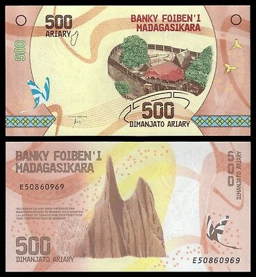 Madagascar 500 Ariary ND 2017 Pick 99   SC = UNC