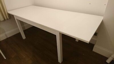 Miraculous Ikea Bjursta White Dining Table Extendable To Maximum Ocoug Best Dining Table And Chair Ideas Images Ocougorg