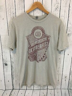 LONE TREE BREWING CO. Octoberfest 2016 T Shirt Gray Size Large Colorado Brew N1