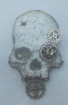Pin Skull Steampunk Brooch Accessories Wood New Fashion Multi-Color Lapel