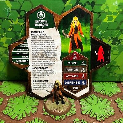 Heroscape Figure: Sharwin Wildborn w/card - Champions of the Forgotten Realms
