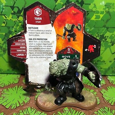 Heroscape Figure: Torin w/card from Champions Of The Forgotten Realms