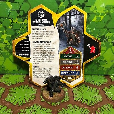 Heroscape Figure: Mogrimm Forgehamm w/card - Champions Of The Forgotten Realms