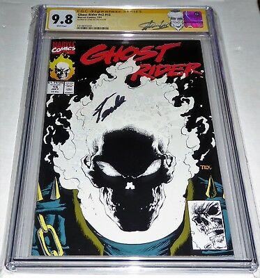 Ghost Rider #v2 #15 CGC SS Signature Autograph STAN LEE Glow in the Dark Cover