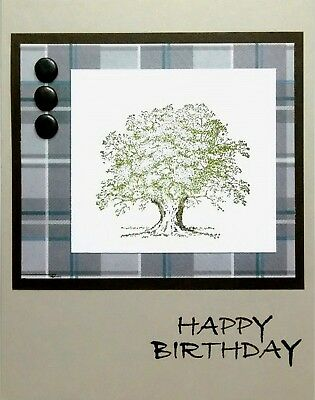 Stampin Up Handmade Guy Masculine Birthday Card Oak Tree 350