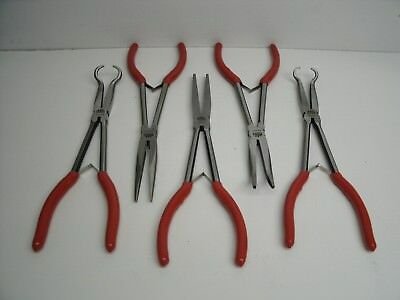 New Red Mac Tools 5Pc Long Reach Plier Set