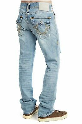 True Religion Mens $299 Jeans Ricky Relaxed Straight Super T Shockwave 100462