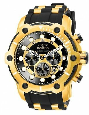 NEW Invicta Men 26751 Bolt Quartz Chronograph Black Dial Watch Stainless Steel !