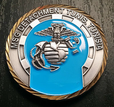 USMC MSG Detachment Tunis Tunisia Challenge Coin
