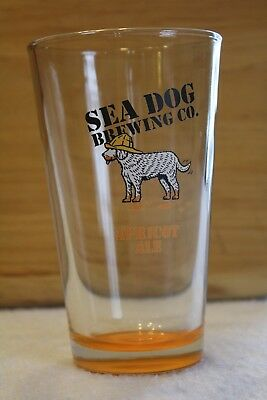 Sea Dog Brewing Co. MAINE Drinking Glass Apricot Ale RARE! Used ME