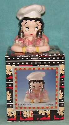Vintage 1995 Betty Boop Salt & Pepper Shaker Set, Vandor #10430