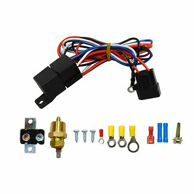 """3/8"""" Thread Electric Radiator Engine Fan Temperature Switch Thermostat Relay Kit"""